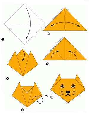 оригами котик