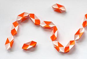 гирлянда модульное оригами