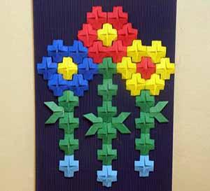 мозаичное модульное оригами