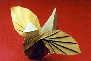 обычное оригами птица
