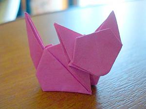 обычное оригами кот