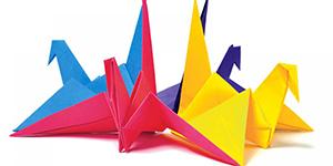 обычное оригами журавли