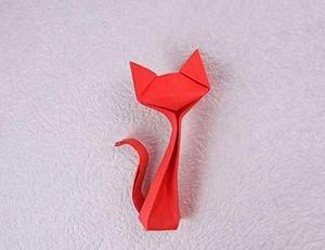 обычное оригами котик