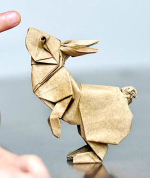 заяц мокрый вид оригами